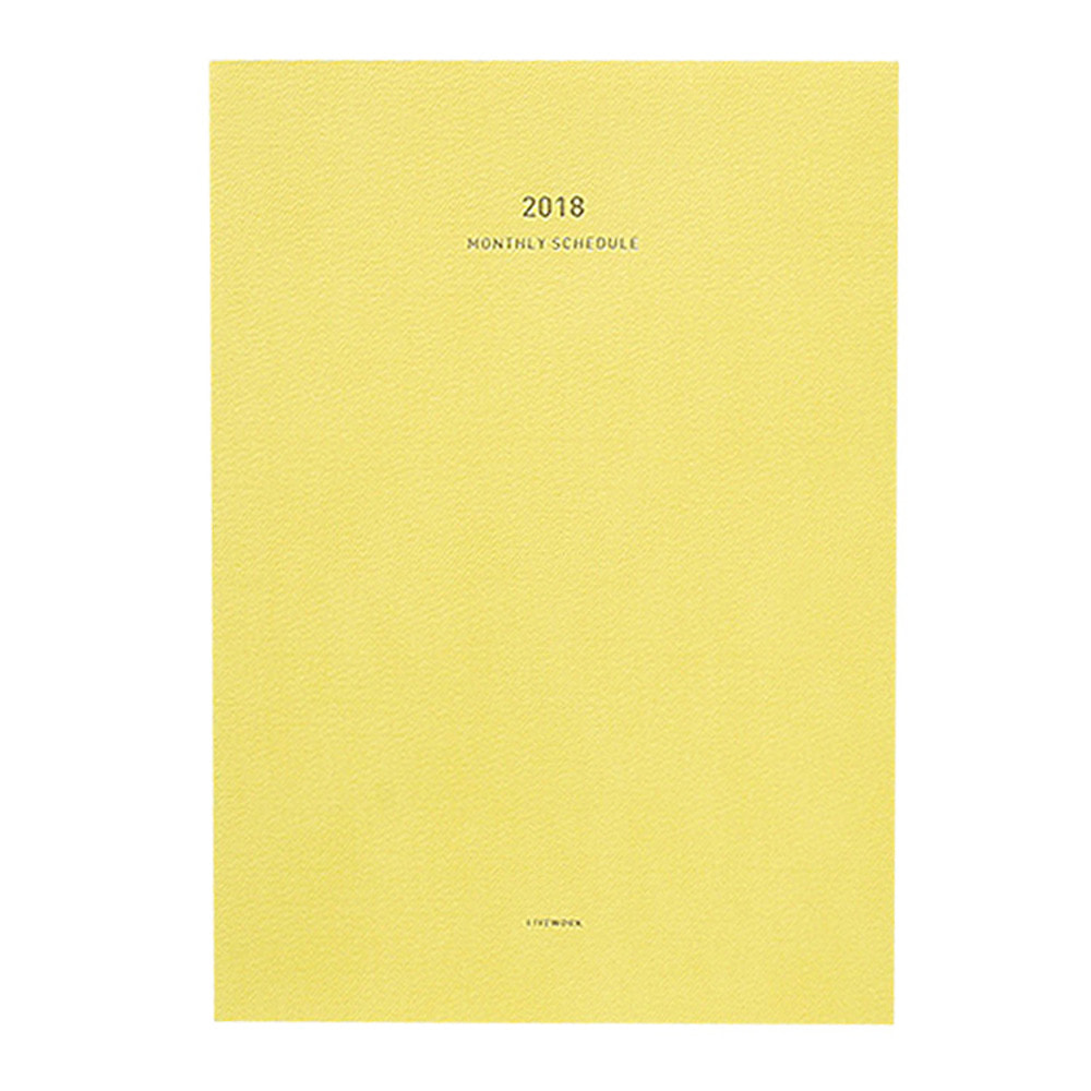 2018 Monthly planner in small