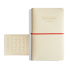 High quality leather like undated planner 'Extra days'