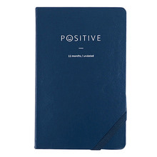 'Positive' Undated format planner in pink, navy, dark violet