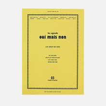 'Oui mais non' planner in pink, mint, yellow and gray